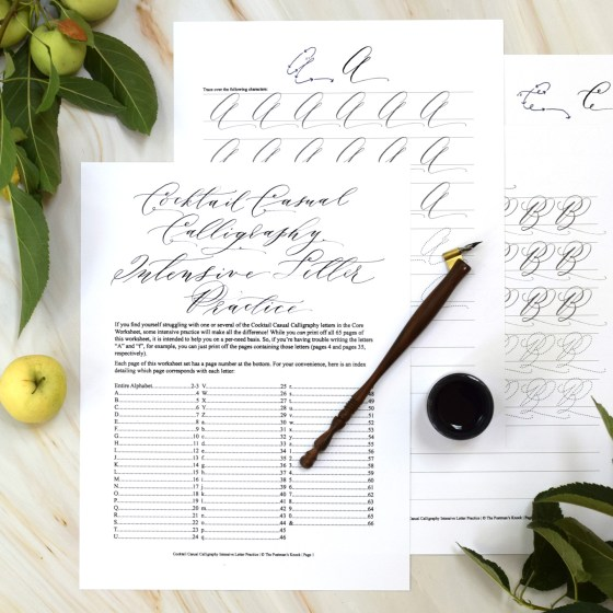 The set includes individual letter practice pages so you can master any letters you're having trouble with!