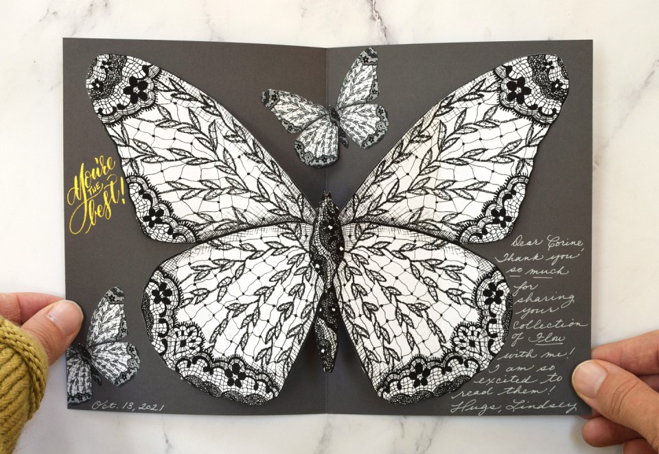 Fold Out Butterfly Thank You Card