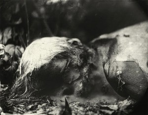 Decomposing corpse from Sally Mann's series, 'Body Farm'