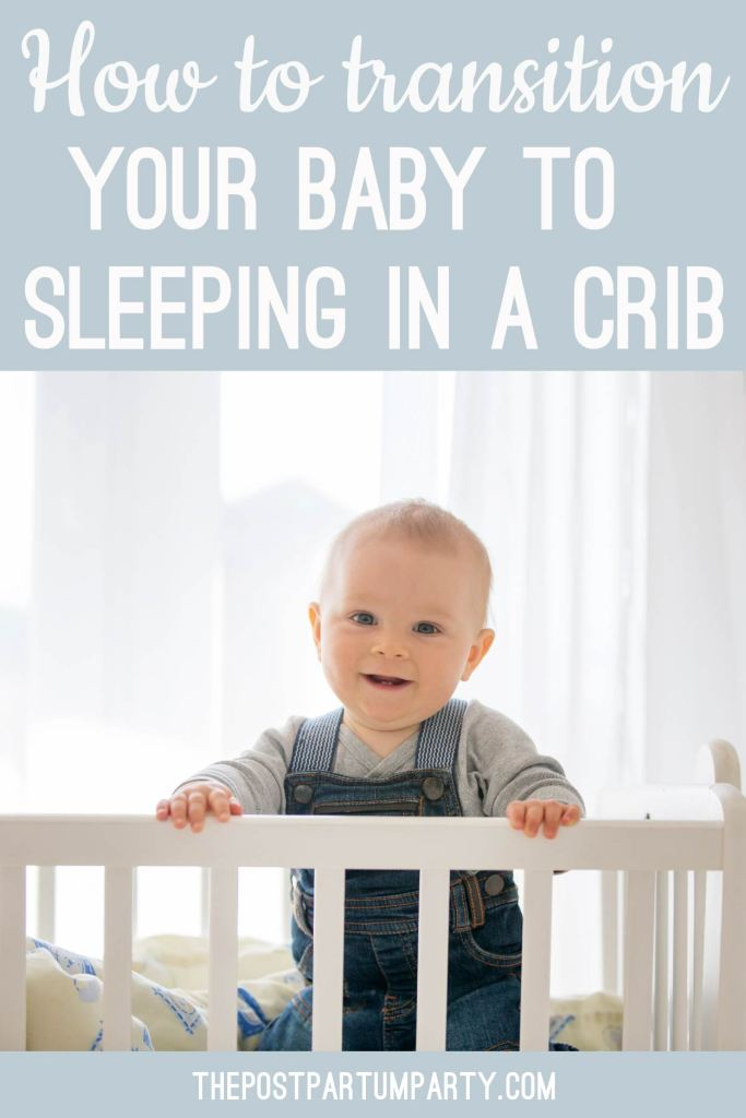 how to transition your baby to a crib pin image