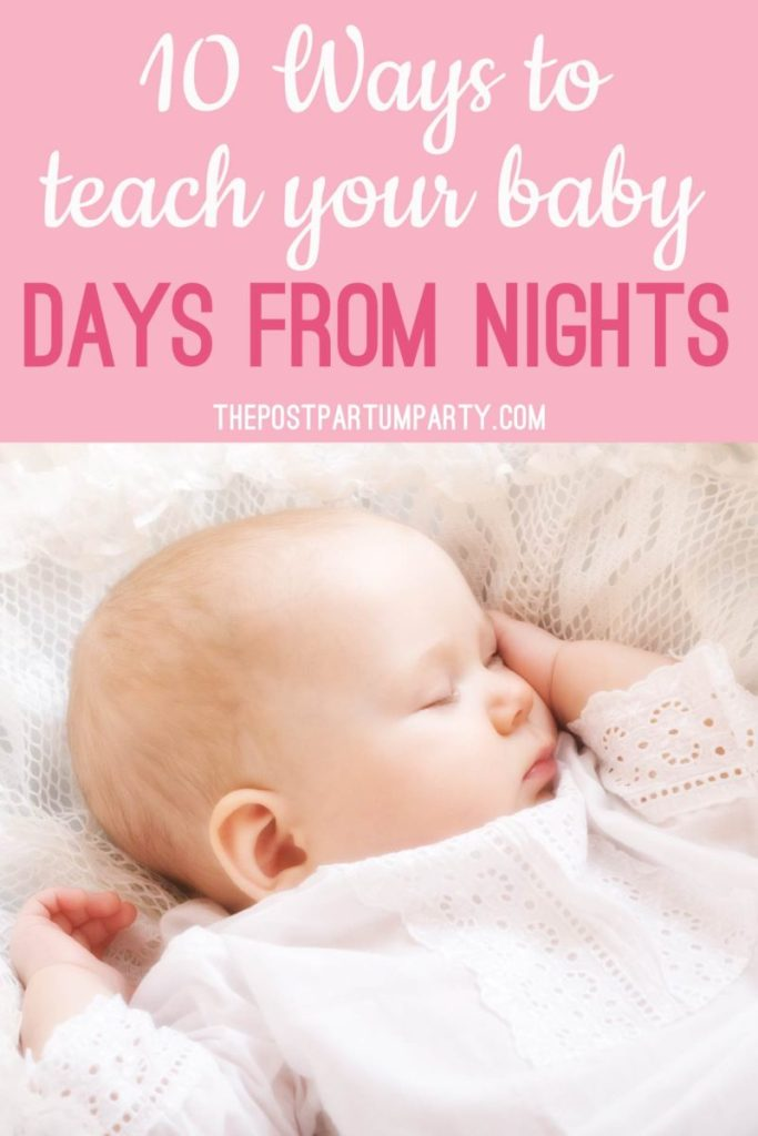 Baby has days and nights mixed up Pin image