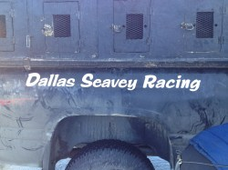 When we went mushing, we used some of Dallas Seavey's dogs!