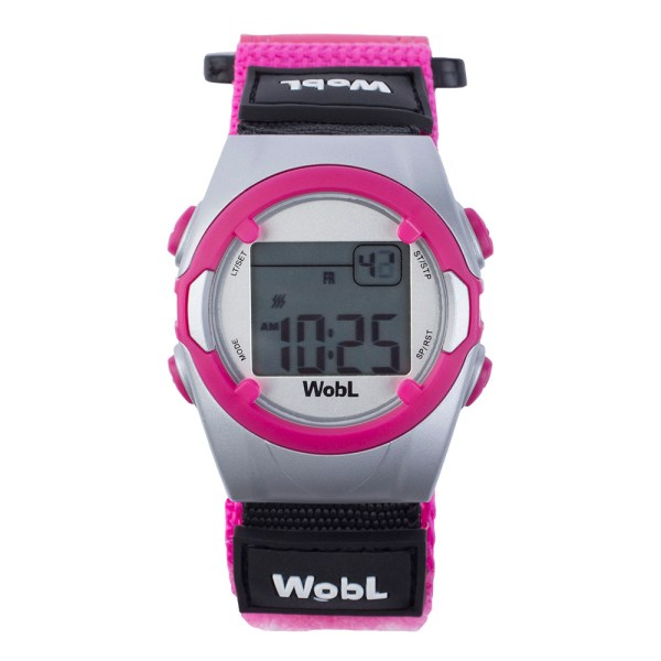 WobL vibrating alarm reminder watch, pink; for potty training, medication reminders, meeting reminders, and more.