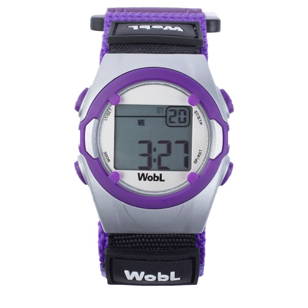 WobL vibrating alarm reminder watch, purple; for potty training, medication reminders, meeting reminders, and more.