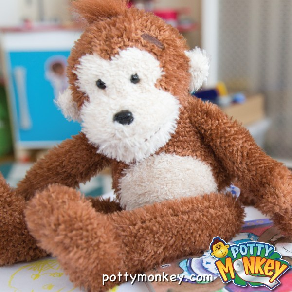 Potty Monkey talking doll for potty training.