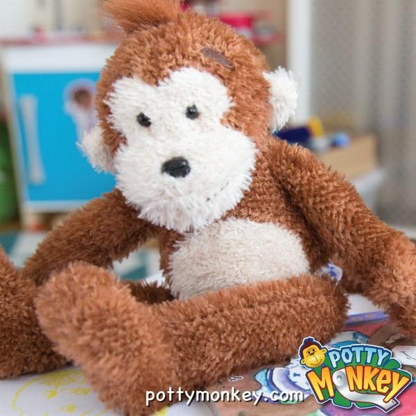 Potty Monkey talking doll for potty training.