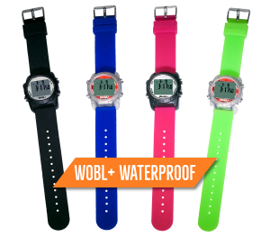 WobL+ Waterproof Vibrating alarm watch with repeating countdown timer; great for potty training, medication & meeting reminders. World's smallest vibrating watch!