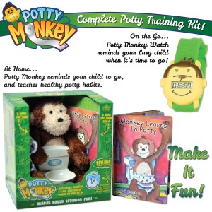 Potty Monkey potty training system plus Potty Monkey Watch for potty reminders.