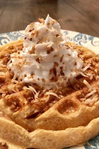 Toasted Coconut Waffle