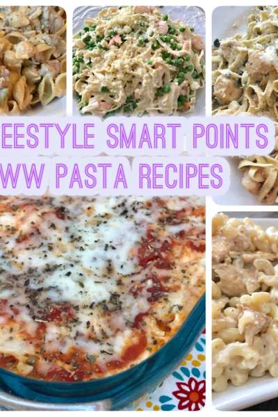 6 WW Freestyle Smart Point Pasta Recipes