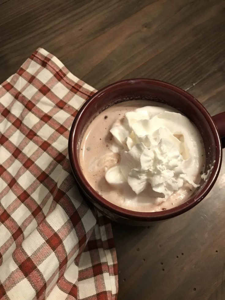 Skinny Mint Chocolate Chip Hot Cocoa