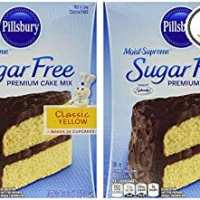 Pillsbury Moist Supreme Sugar Free Classic Yellow Premium Cake Mix (Pack of 2)