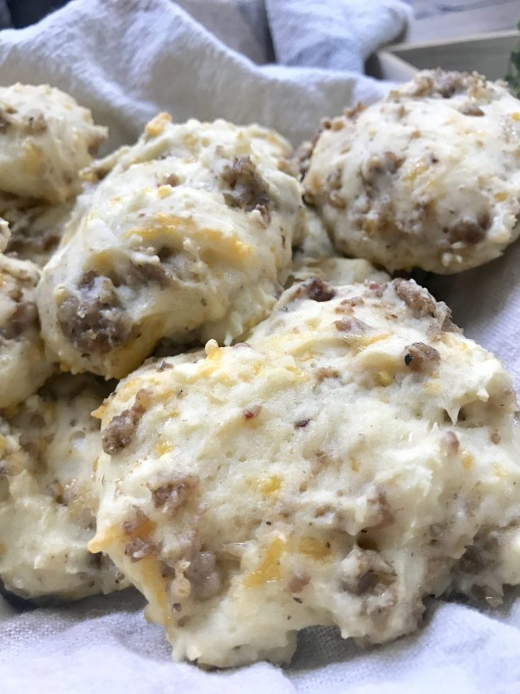 Sausage and Cheese Drop Biscuits