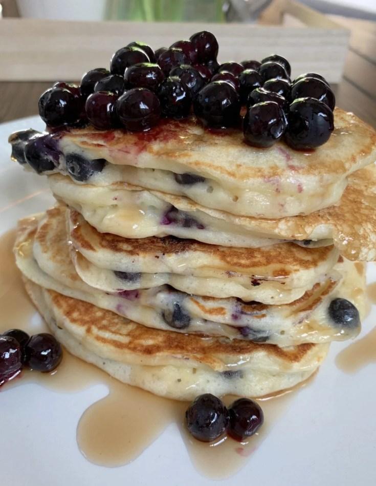 Best Fluffy Blueberry Lemon Pancakes