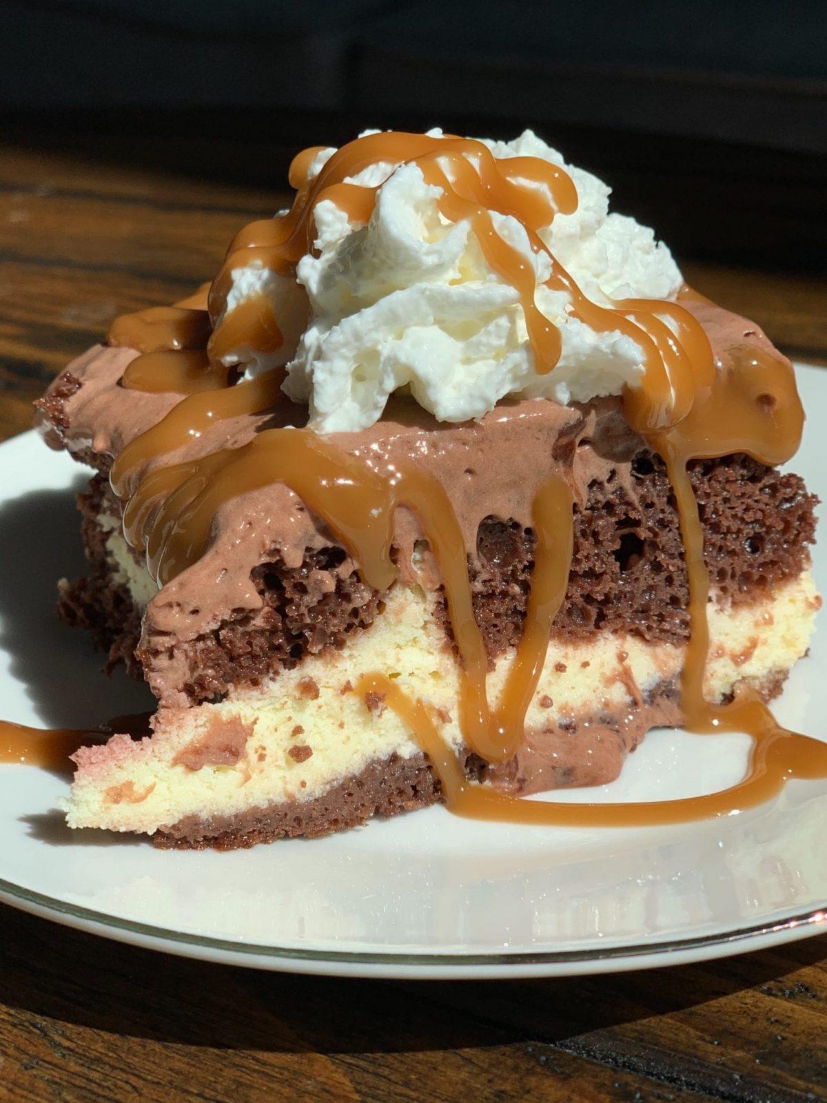Lightened Up Cream Cheese Chocolate Cake Pound Dropper
