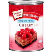 Duncan Hines Wilderness No Sugar Added Pie Filling & Topping, Cherry (Pack of 4)