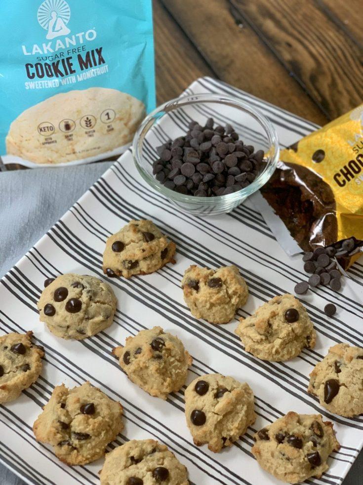 Lakanto Sugarless Chocolate Chip Cookies