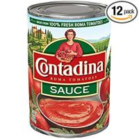 (Pack of 12) Contadina Canned Roma Tomato Sauce with Natural Sea Salt, 12x15oz. Cans