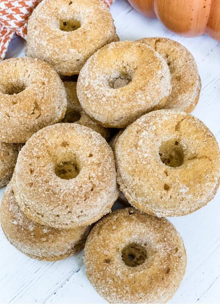 One Point Pumpkin Cinnamon and Sugar Donuts