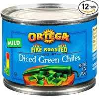 Ortega Diced Green Chiles, Mild, 4 oz (Pack of 12)