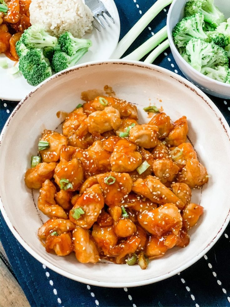 Easy Low Point Skinny Sesame Chicken