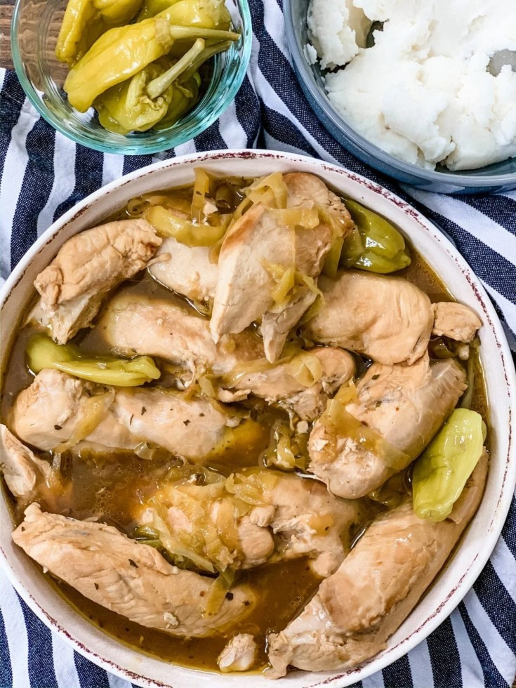 Instant Pot or Slow Cooker Mississippi Chicken