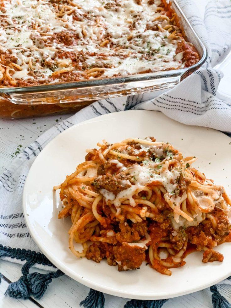 Skinny Spaghetti Casserole
