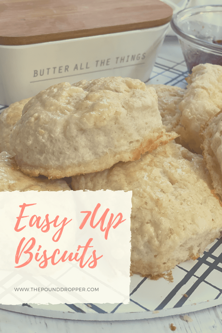 These Easy 7UP Biscuits are soft, fluffy, buttery, and made with JUST 4 ingredients!! You can have warm delicious biscuits on the table in less than 25 minutes! via @pounddropper