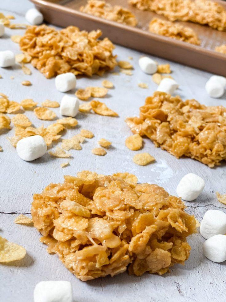 Easy No Bake Peanut Butter Cereal Bars