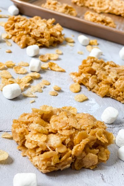 Easy No Bake Peanut Butter Cereal Bars