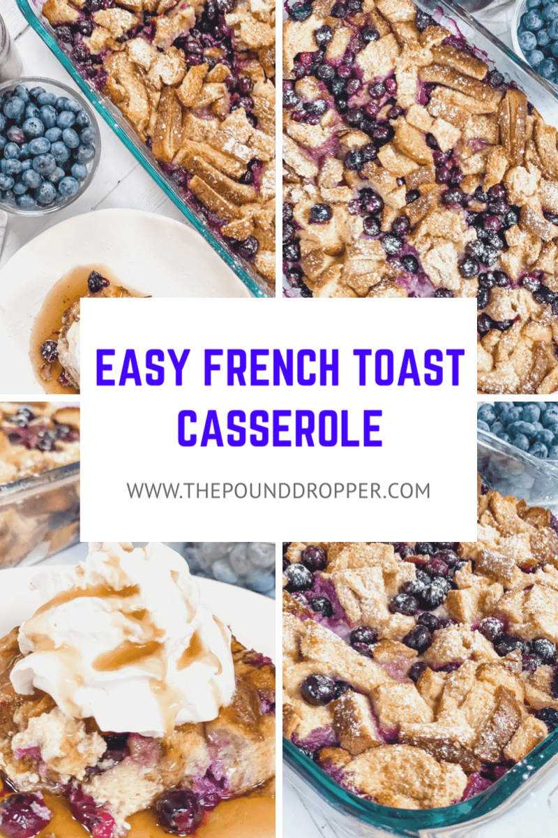 This Easy French Toast Casserole is a quick and easy breakfast, brunch, or dinner option that can be cooked right away or assembled ahead of time and cooked the next morning! via @pounddropper