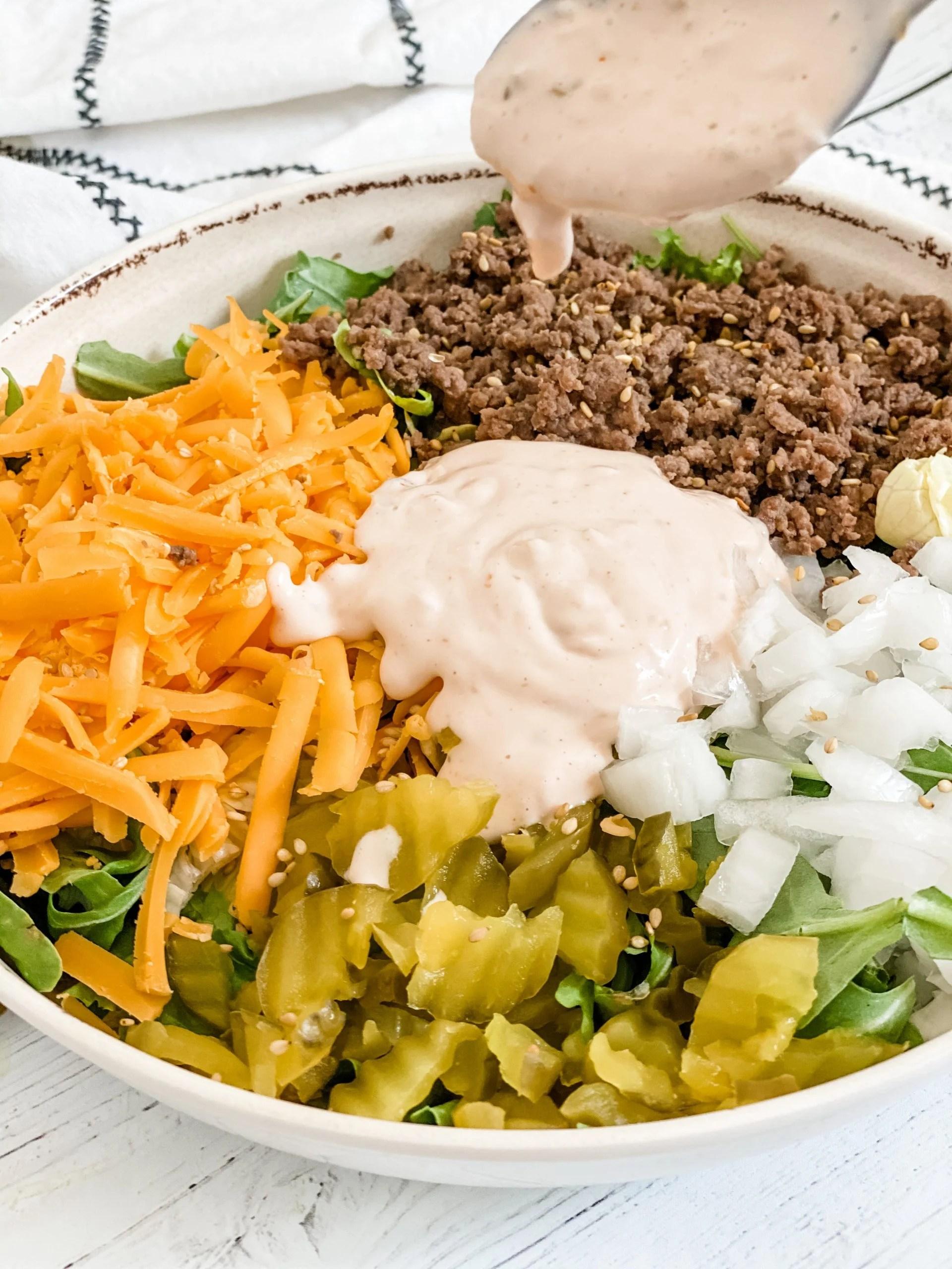 Big Mac Salad via @pounddropper