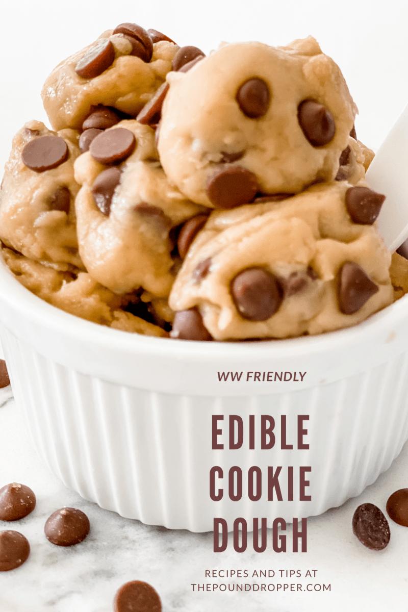 WW Friendly Edible Cookie Dough via @pounddropper