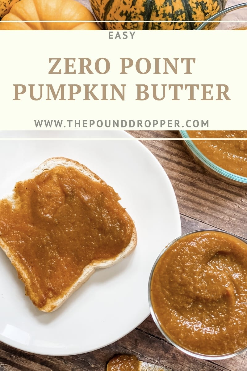 This Zero Point Pumpkin Butter is a keeper! Spread it on toast, biscuits, pancakes, or waffles! I love adding it to my overnight oats, yogurt and hot oatmeal! via @pounddropper