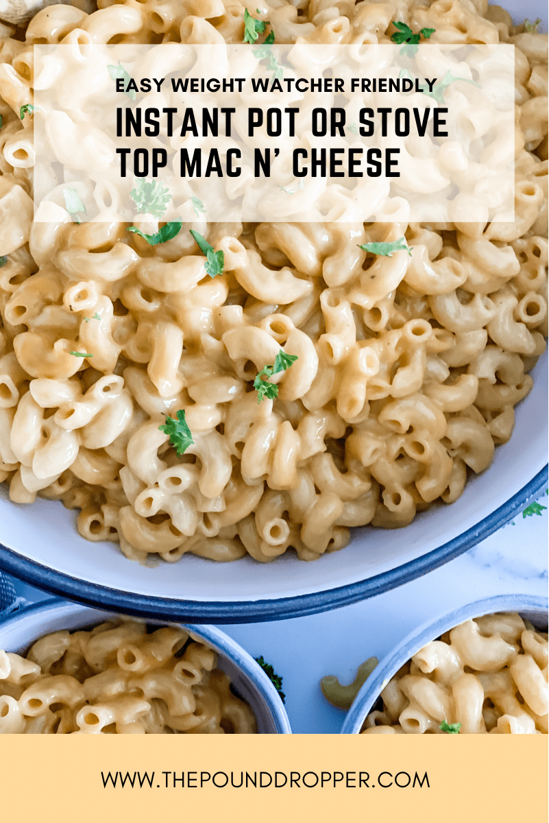 This Easy Mac N' Cheese is a family favorite -not only is it low in points, it's also the fastest, easiest, most delicious Mac N' Cheese you'll ever make!! Perfectly creamy and cheesy! via @pounddropper