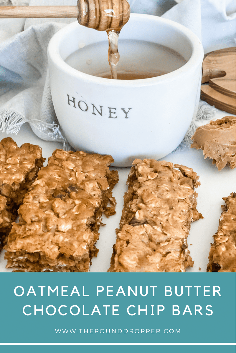 Oatmeal Peanut Butter Chocolate Chip Bars  via @pounddropper