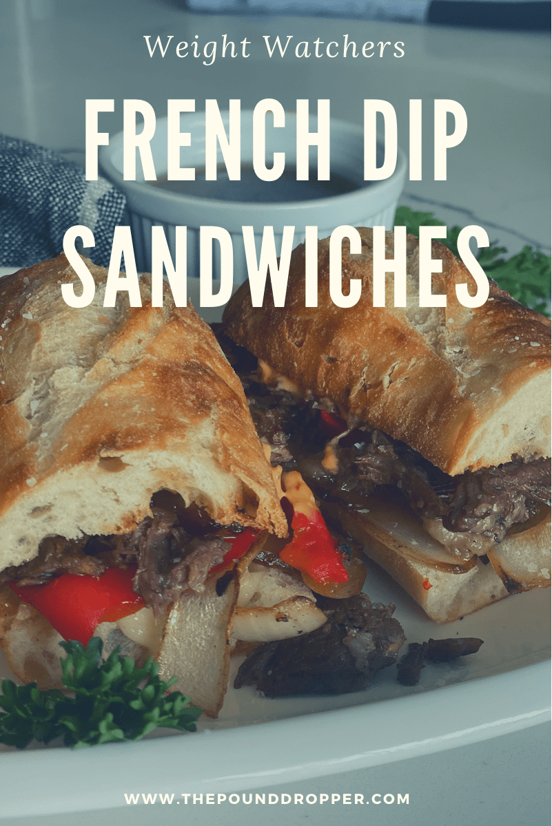 Lightened Up French Dip Sandwiches via @pounddropper