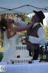 Durham Wedding - Cake Fight