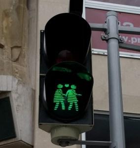Crosswalk sign in Vienna