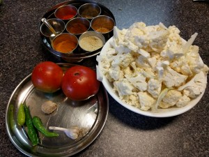 Ingredients for Cauliflower bhaji
