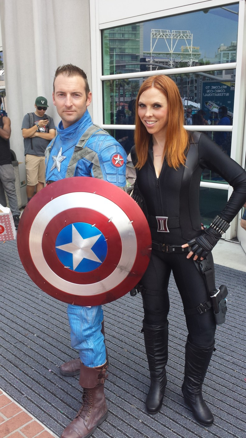 sdcc cosplay captain america black widow