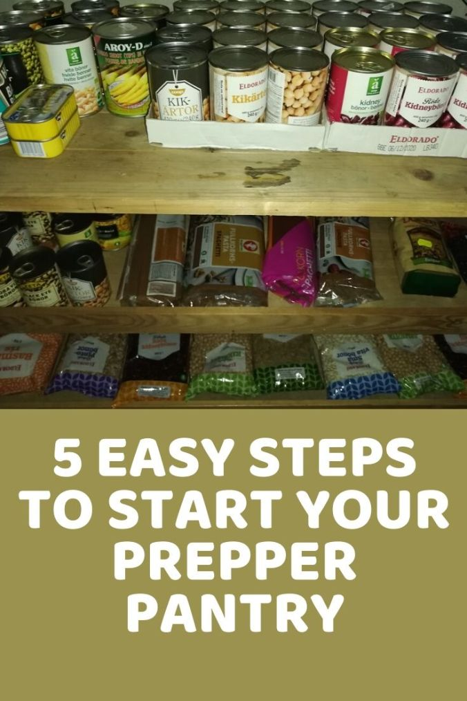 Your prepper pantry should include canned goods and dried foods.