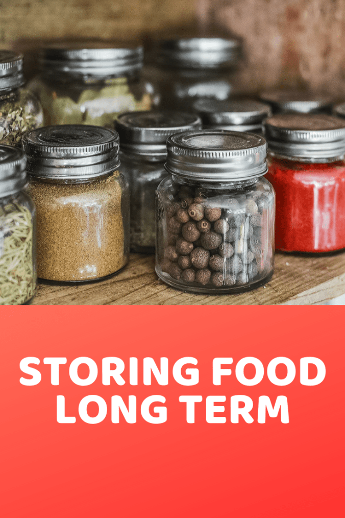 Storing food long term will ensure that you have what you need in an emergency