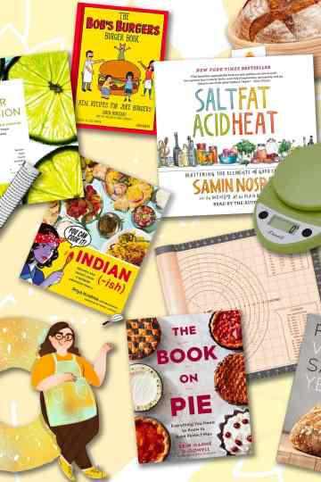 totally giftable cookbooks and kitchen tools to gift with them