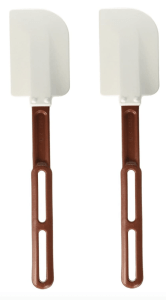 high temp red and white rubber spatulas