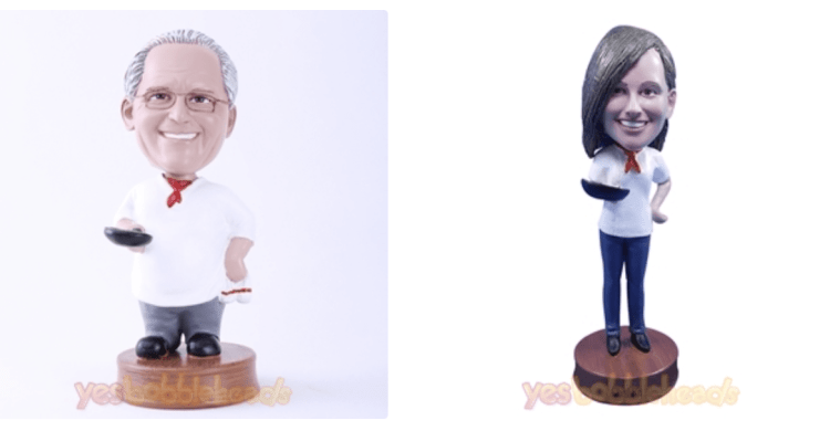 custom chef bobbleheads for your favorite culinary school graduates