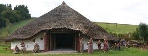 simple round straw roof hut