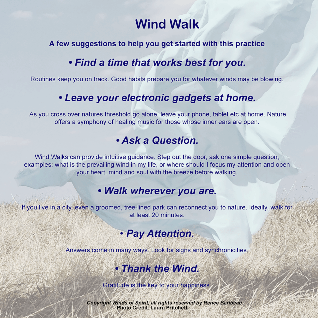 Wind Walk: Receive Insight and Guidance that makes sense.  Simple Steps here.
