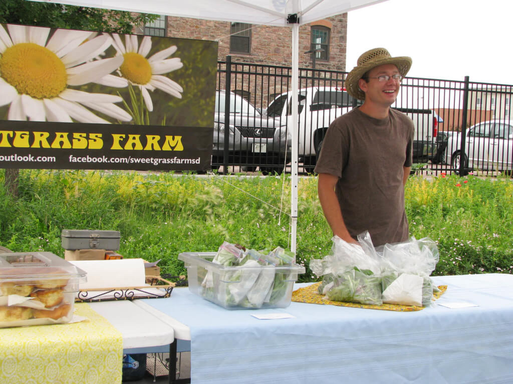 sweetgrass farm at the prairie farmers' market