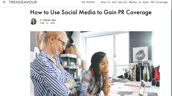How To Use Social Media To Gain PR Coverage